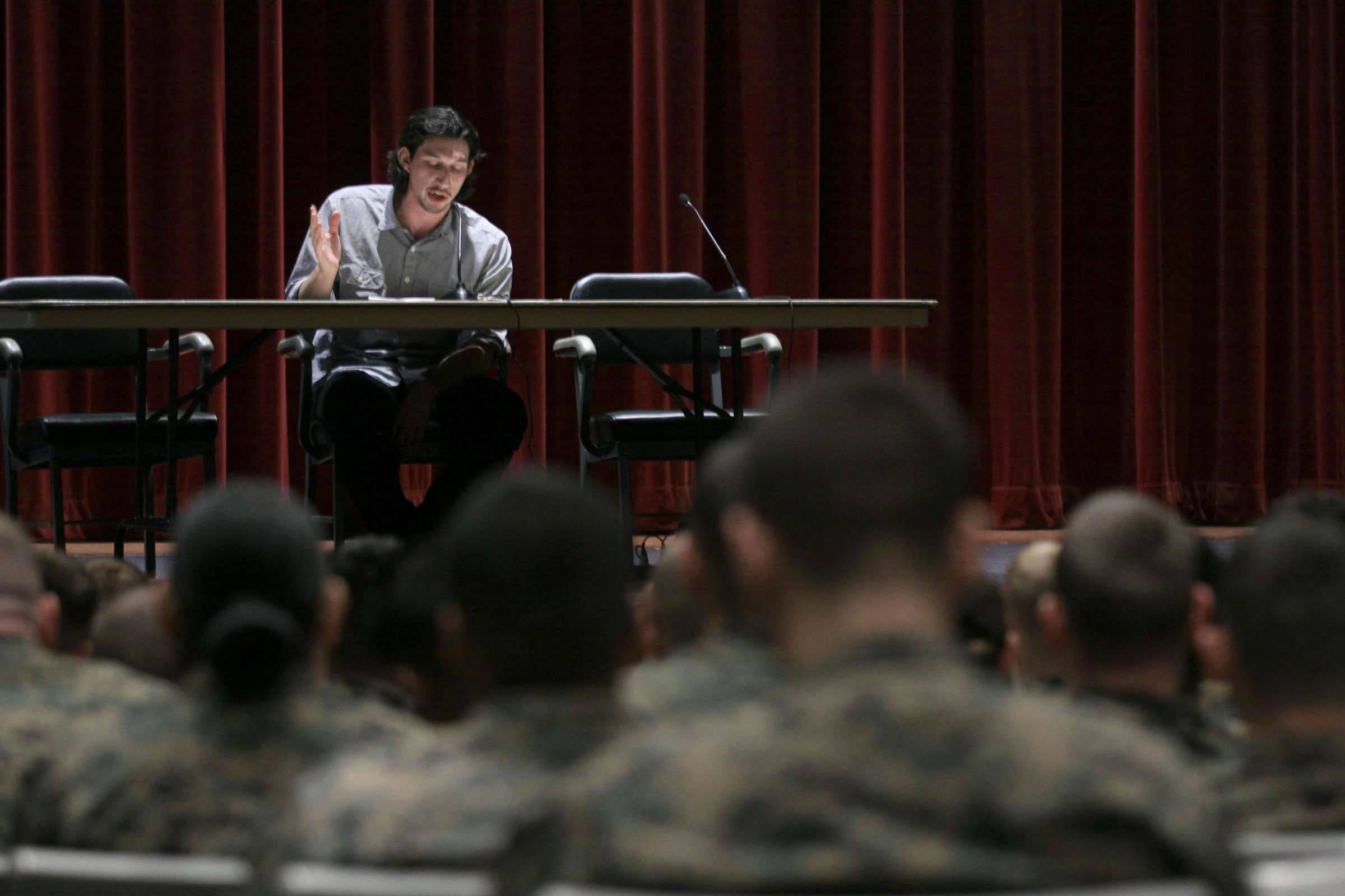 Actor Adam Driver Performs Rum And Vodka Credit Lance Cpl  Sarah Wolff Diaz