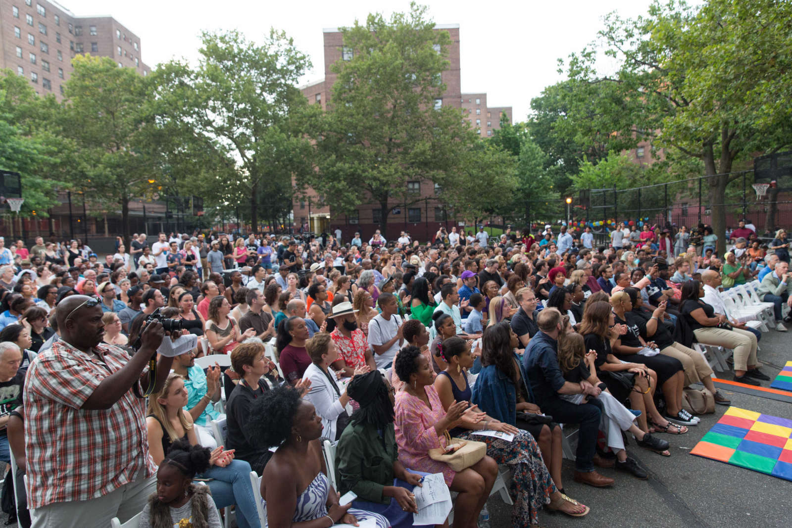 Crowd In Howard Playground Brownsville Ny At Antigone In Ferguson